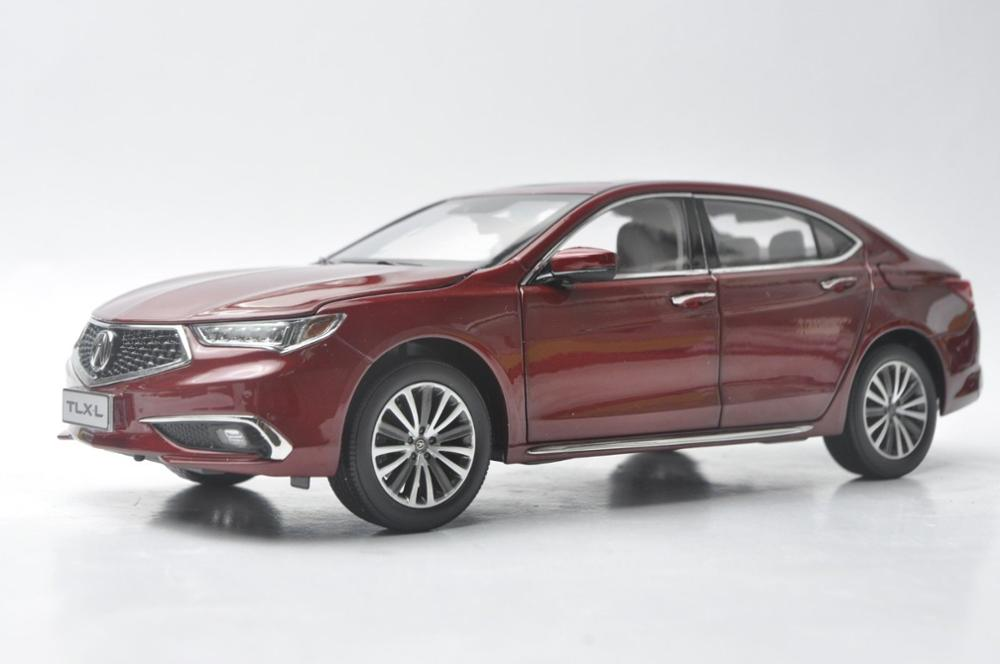 1:18 Diecast Model for Honda Acura TLX-L TLX Legend 2019 Red Alloy Toy Car Miniature Collection Gifts Hot Selling