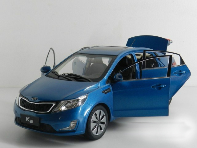 1:18 Diecast Model for Kia K2 Rio 2011 Blue Alloy Toy Car Miniature Collection Gifts (Alloy Toy Car, Diecast Scale Model Car, Collectible Model Car, Miniature Collection Die-cast Toy Vehicles Gifts)
