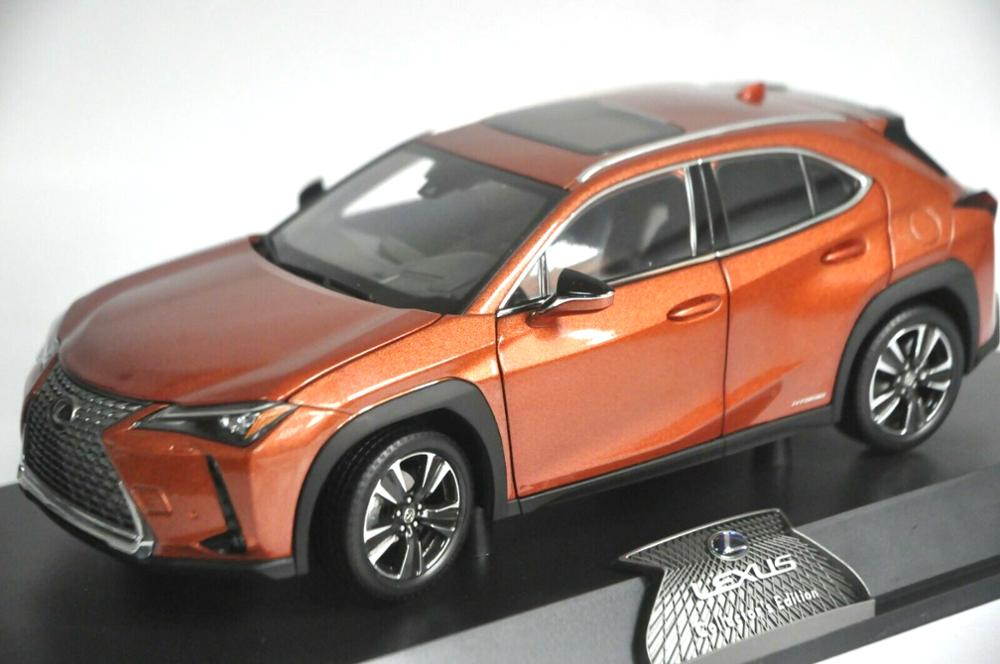 1:18 Diecast Model for Lexus UX 260h 2020 Orange SUV Alloy Toy Car Miniature Collection Gift UX 260 UX260h Toyota