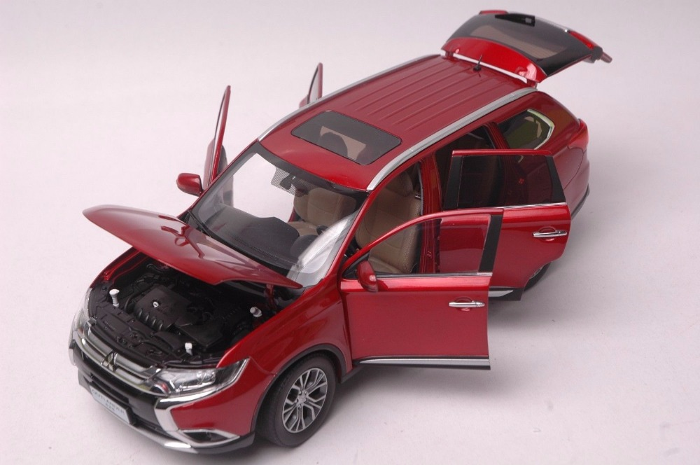 1:18 Diecast Model for Mitsubishi Outlander 2017 Red SUV Alloy Toy Car Miniature Collection (Alloy Toy Car, Diecast Scale Model Car, Collectible Model Car, Miniature Collection Die-cast Toy Vehicles Gifts)