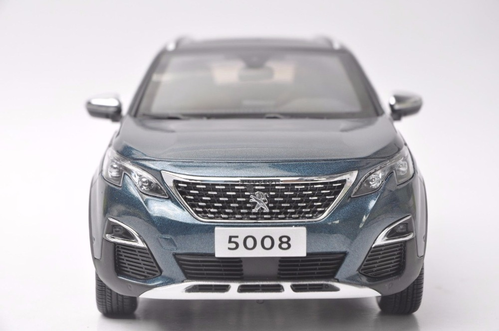 1:18 Diecast Model for Peugeot 5008 2017 Blue SUV Alloy Toy Car Miniature Collection Gift  (Alloy Toy Car, Diecast Scale Model Car, Collectible Model Car, Miniature Collection Die-cast Toy Vehicles Gifts)