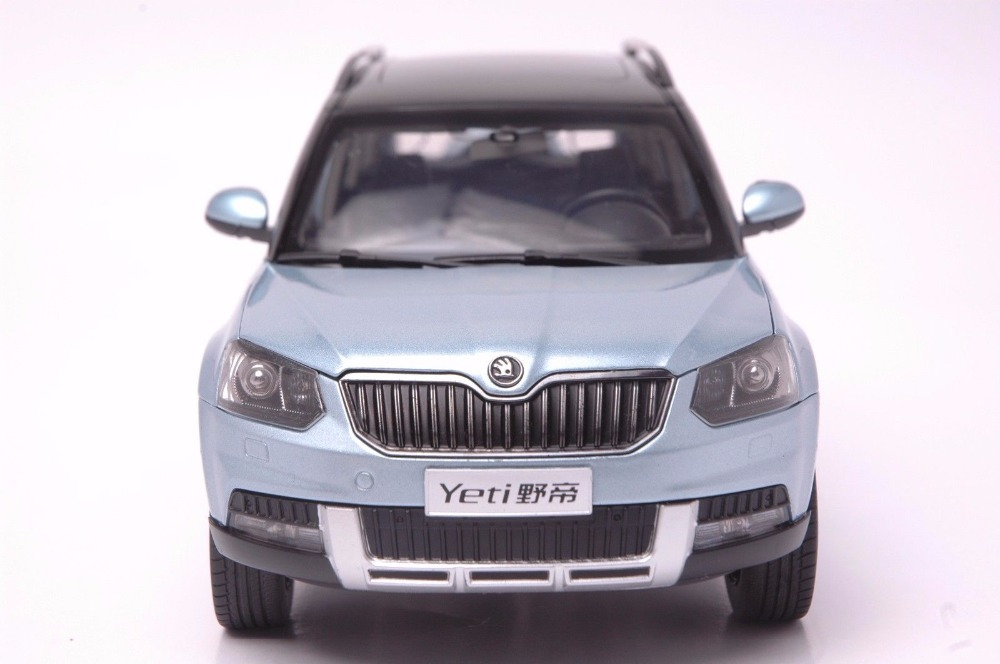 1:18 Diecast Model for Skoda Yeti Blue SUV Alloy Toy Car Miniature Collection Gifts (Alloy Toy Car, Diecast Scale Model Car, Collectible Model Car, Miniature Collection Die-cast Toy Vehicles Gifts)