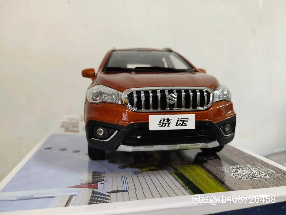 1:18 Diecast Model for Suzuki S-Cross 2018 Orange SUV Alloy Toy Car Miniature Collection Gifts Scross S Cross