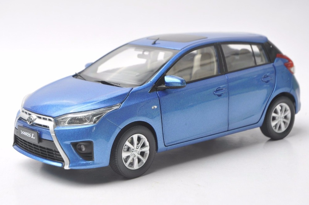 1:18 Diecast Model for Toyota Yaris L Blue Alloy Toy Car Miniature Collection Gifts (Alloy Toy Car, Diecast Scale Model Car, Collectible Model Car, Miniature Collection Die-cast Toy Vehicles Gifts)