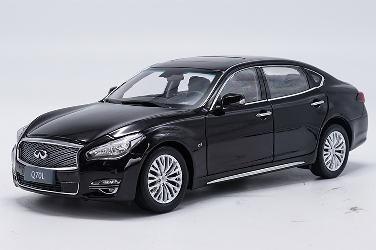1/18 Infiniti Q70L 2017 Black Sedan Q70 G37 Alloy Toy Car, Diecast Scale Model Car, Collectible Model Car, Miniature Collection Die-cast Toy Vehicles Gifts