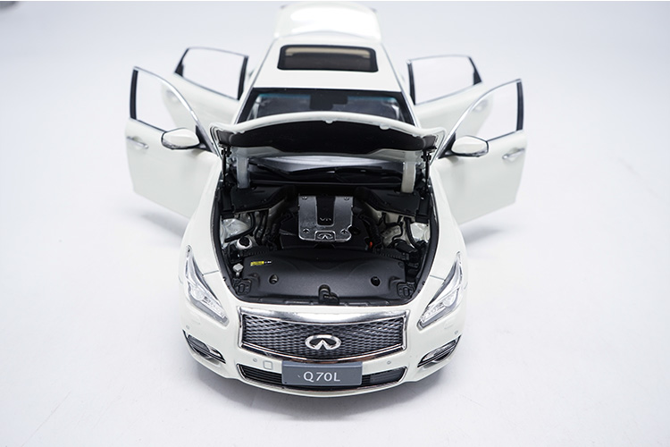 1/18 Infiniti Q70L 2017 White Sedan Q70 G37 Alloy Toy Car, Diecast Scale Model Car, Collectible Model Car, Miniature Collection Die-cast Toy Vehicles Gifts
