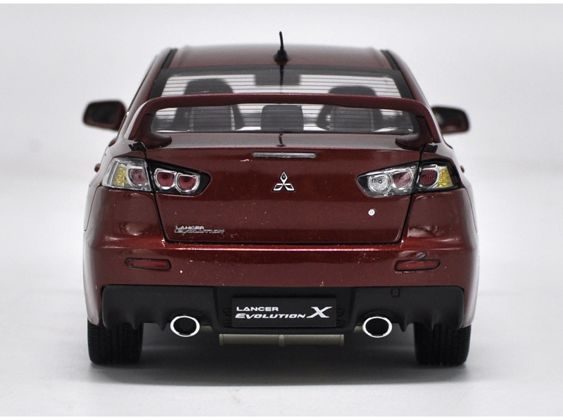 1/18 Mitsubishi Lancer Evolution X 10 EVO X Red Alloy Toy Car, Diecast Scale Model Car, Collectible Model Car, Miniature Collection Die-cast Toy Vehicles Gifts
