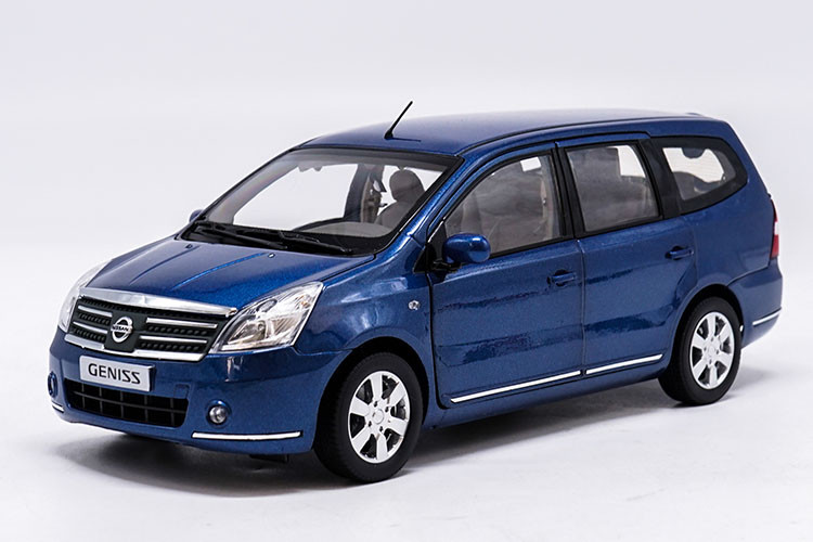 1/18 Nissan GENISS Livina Blue MPV Alloy Toy Car, Diecast Scale Model Car, Collectible Model Car, Miniature Collection Die-cast Toy Vehicles Gifts