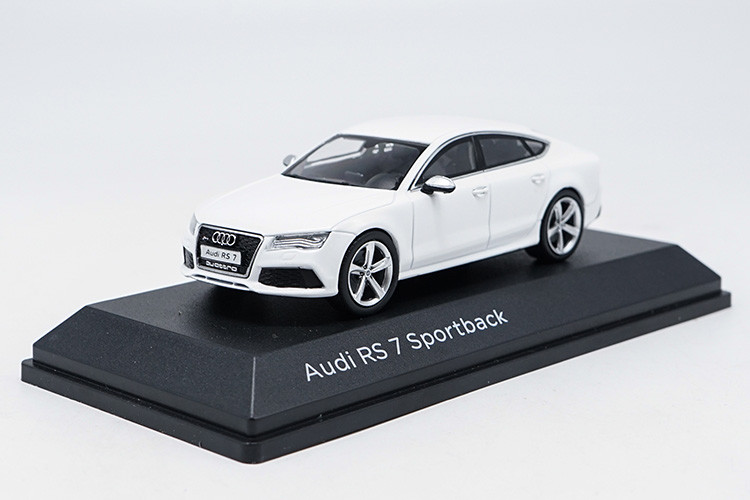 1/43 Audi RS7 White Sportback Alloy Toy Car, Diecast Scale Model Car, Collectible Model Car, Miniature Collection Die-cast Toy Vehicles Gifts
