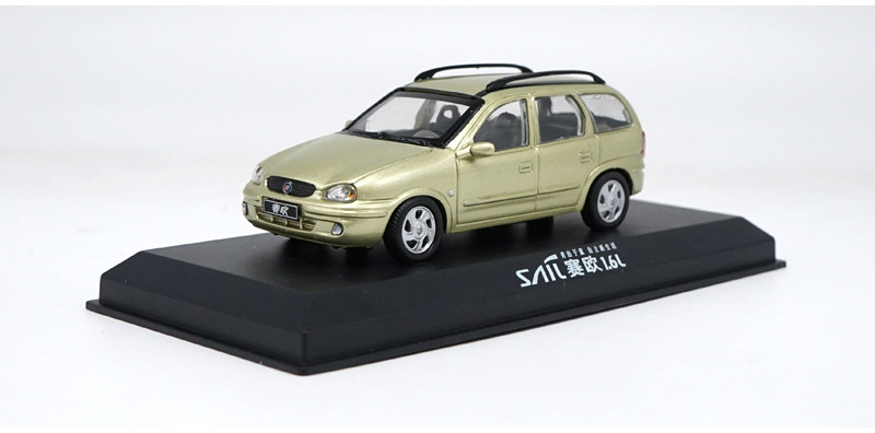 1/43 GM Buick Sail SRV Gold Classic S-RV S RV Vehicle Rare Alloy Toy Car, Diecast Scale Model Car, Collectible Model Car, Miniature Collection Die-cast Toy Vehicles Gifts