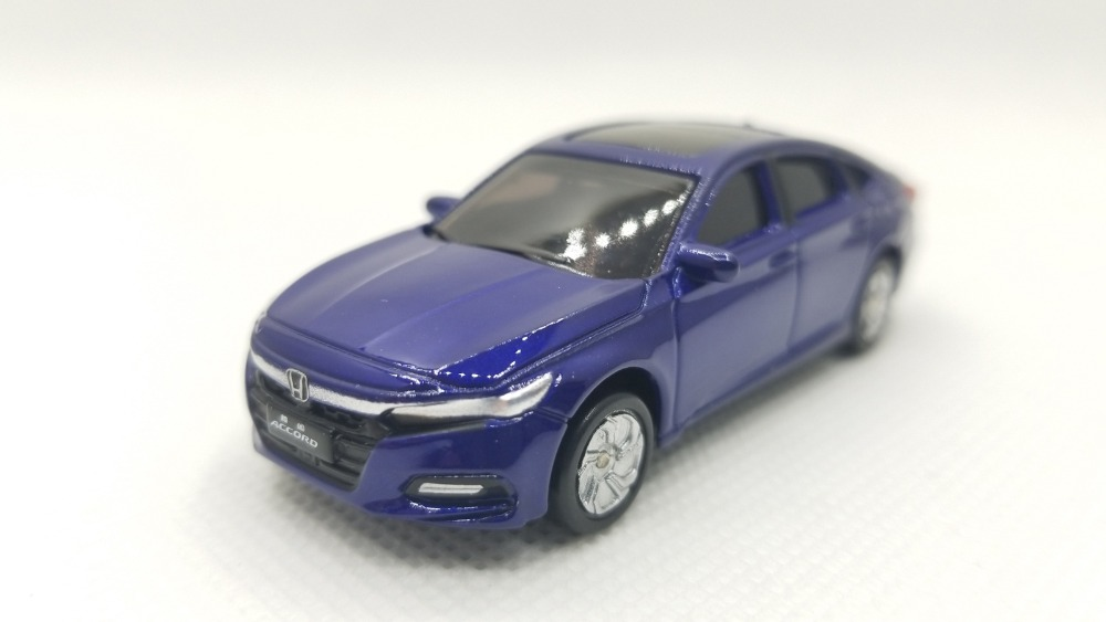 1/64 Honda Accord 2018 Sport Turbo Blue Alloy Toy Car, Diecast Scale Model Car, Collectible Model Car, Miniature Collection Die-cast Toy Vehicles Gifts