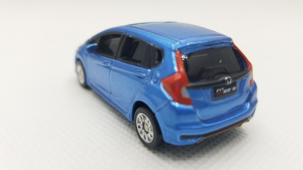 1/64 Honda Fit 2018 Sport Blue Minicar Alloy Toy Car, Diecast Scale Model Car, Collectible Model Car, Miniature Collection Die-cast Toy Vehicles Gifts