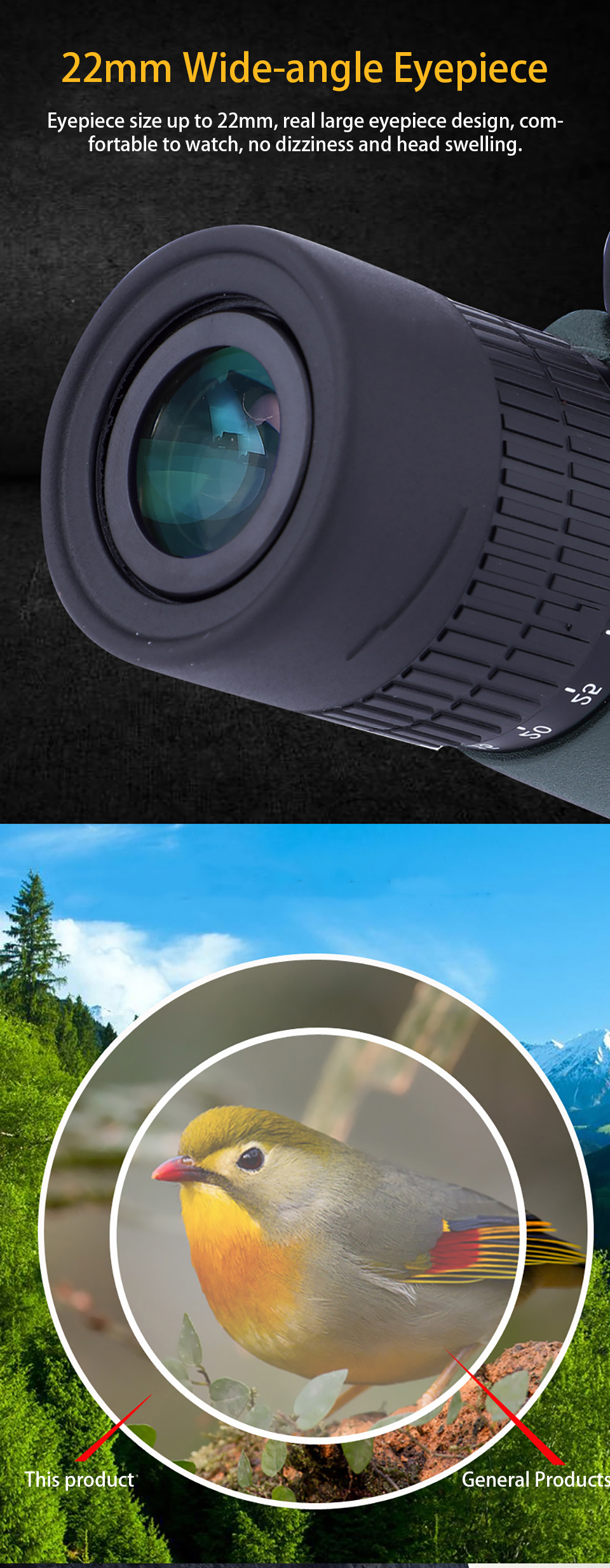 10-30X50 Professional Powerful Monocular Telescope Long Range Zoom Military Hunting Optical BKA4 Eyeglass for Camping Tourism, (Telescope For Sale, Telescope For Adults, Telescope For Kids, Telescope For Beginners, Best Outdoor Telescope).