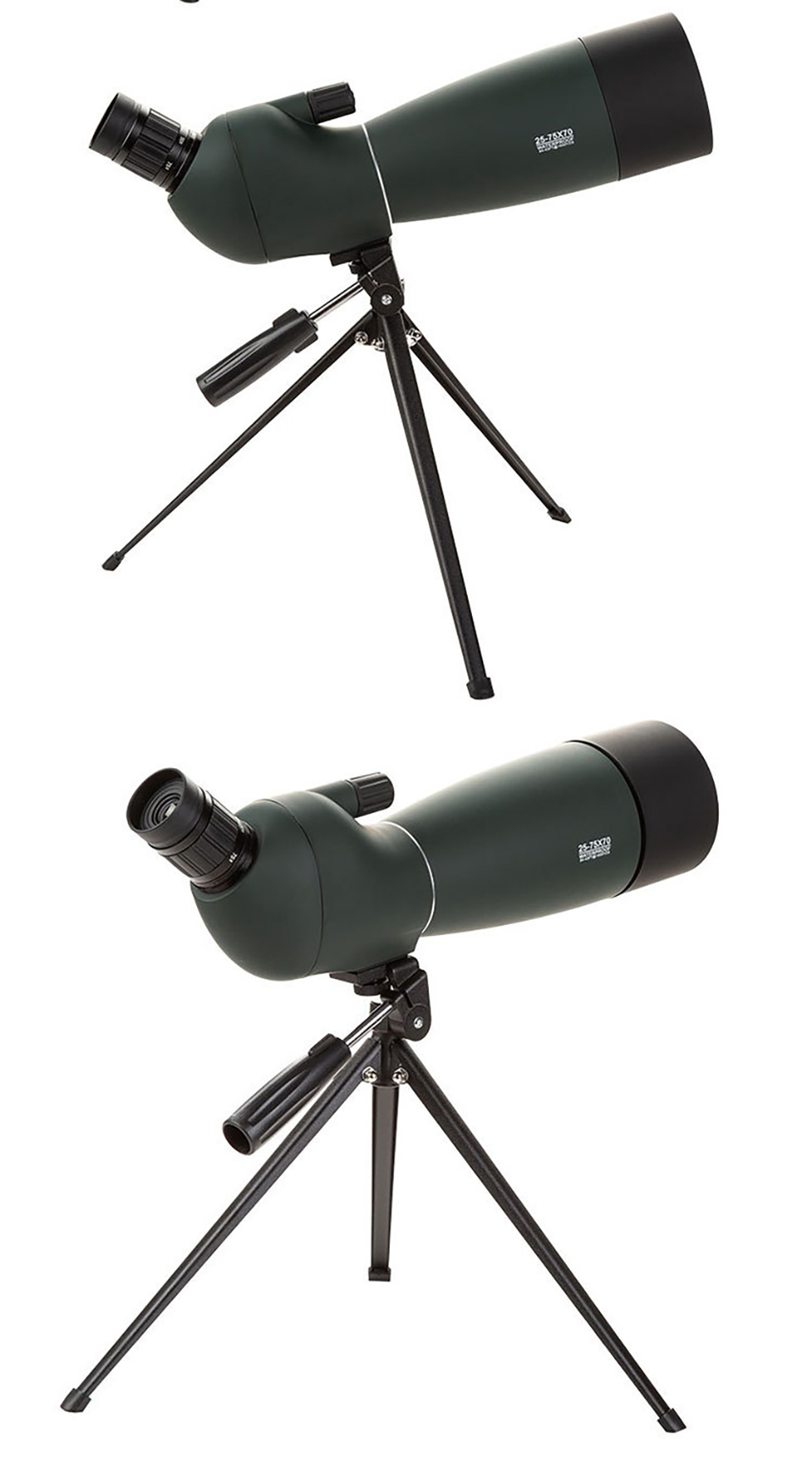 25-75x70 Monocular Telescope Spotting Scope Zoom Powerful Long Range Telescope Low Light Night Vision for Hunting with Tripod, (Telescope For Sale, Telescope For Adults, Telescope For Kids, Telescope For Beginners, Best Outdoor Telescope).