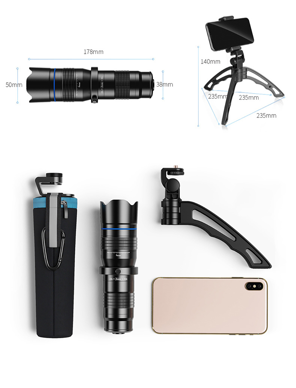 28X36X60 Zoom Monoculars Telescope Professional HD Powerful Photography High Magnification Zoom Binoculars Lens for Camping, (Telescope For Sale, Telescope For Adults, Telescope For Kids, Telescope For Beginners, Best Outdoor Telescope).