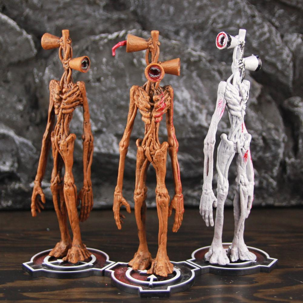3 Heads Siren Head Figurine Scp Foundation SCP 6789 Siren Head Action Figure Toy Sirenhead Model Doll Toys For Kids Xmas Birthday Gifts