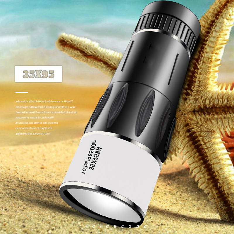 35X95 Monocular Telescope Powerful Professional Night Vision HD Zoom Wide Angle Pocket Telescope for Hiking Camping Telescopio, (Telescope For Sale, Telescope For Adults, Telescope For Kids, Telescope For Beginners, Best Outdoor Telescope).