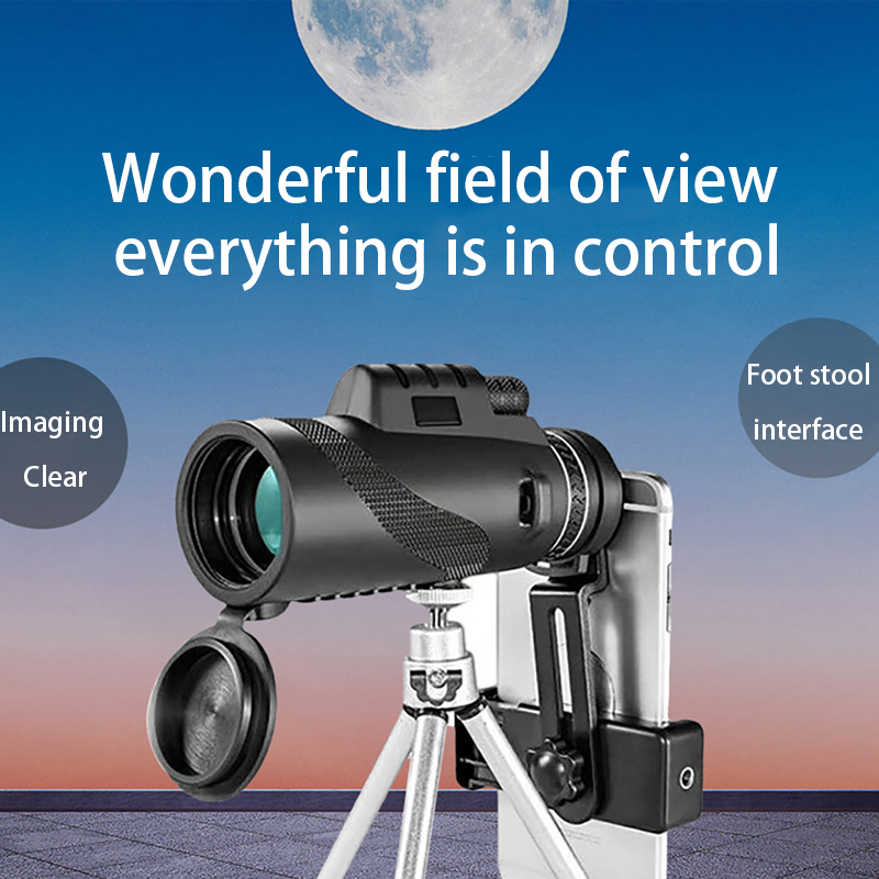 40X60 Monocular Telescope Powerful HD High Magnification Low Light Night Vision Professional for Hiking and Camping Binoculars, (Telescope For Sale, Telescope For Adults, Telescope For Kids, Telescope For Beginners, Best Outdoor Telescope).