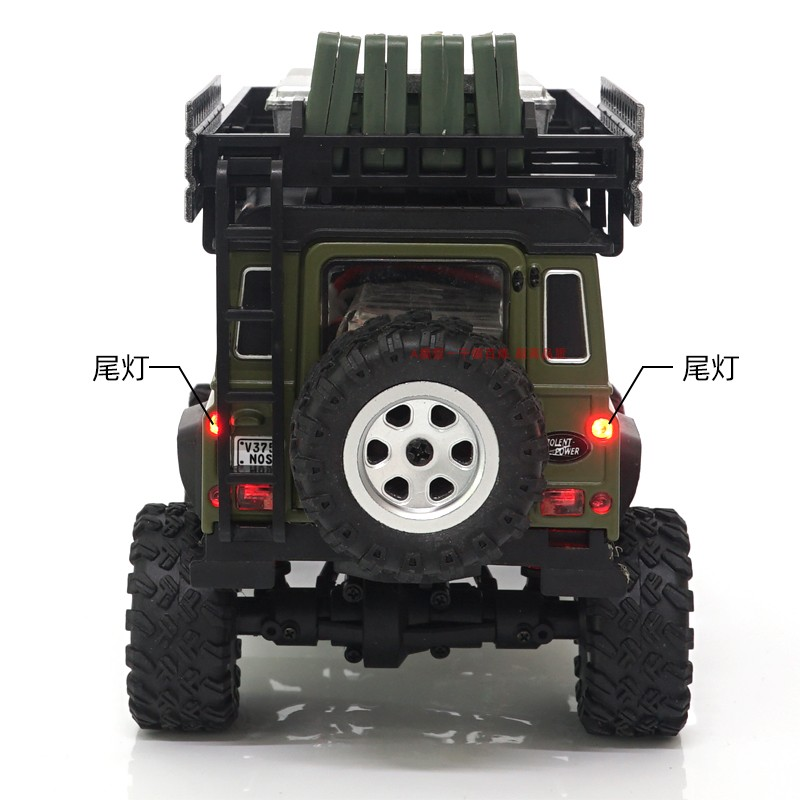 1/28 Mini Scale 4WD Land Rover Defender D90 Model RC Car, Rack Crawler Off-Road RTR RC Crawler, Micro Scale RC Trucks.