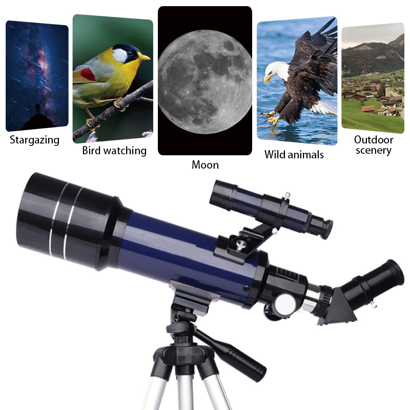 70MM Large Aperture Astronomical Telescop HD Professional Astronomical Telescope High Quality Powerful Zoom Deep Space Star View, (Telescope For Sale, Telescope For Adults, Telescope For Kids, Telescope For Beginners, Best Outdoor Telescope).