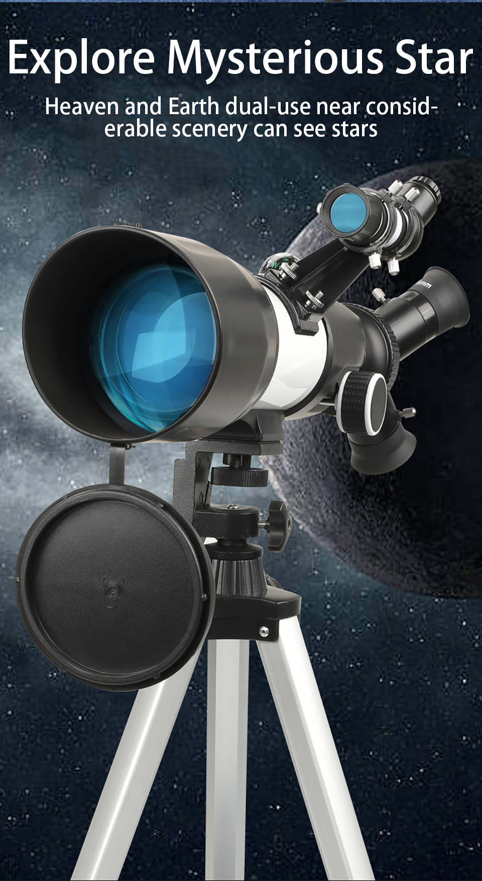 70MM Large Caliber Powerful Astronomical Telescope HD Professional High Quality 20X-166X Zoom Astronomical Telescope Deep Space, (Telescope For Sale, Telescope For Adults, Telescope For Kids, Telescope For Beginners, Best Outdoor Telescope).