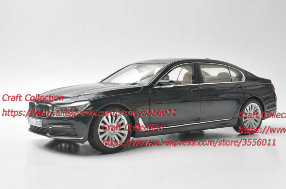 1/18 750Li 760Li Deep Gray Sedan Alloy Toy Car, Diecast Scale Model Car, Collectible Model Car, Miniature Collection Die-cast Toy Vehicles Gifts