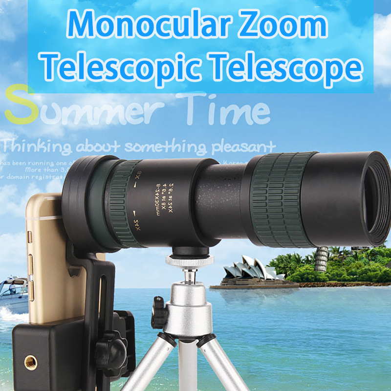 8-24X30 Monocular Telescope Professional High Power HD Zoom Mini Monocular with BAK4 Prism Lens for Outdoor Traveling Hunting, (Telescope For Sale, Telescope For Adults, Telescope For Kids, Telescope For Beginners, Best Outdoor Telescope).