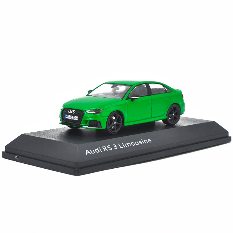 1/43 Audi RS3 limousine 2016 Green Alloy Toy Car, Diecast Scale Model Car, Collectible Model Car, Miniature Collection Die-cast Toy Vehicles Gifts