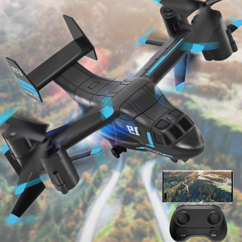 Bell Boeing V-22 Osprey RC Helicopter, Osprey V-22 Remote Control Plane, RC Helicopter Toy with Camera, Birthday Gifts, Christmas Gifts.