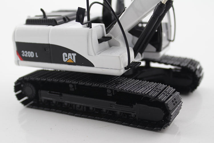 1:50 CAT320D Hydraulic Excavator with white toys, (Scale Model Truck, Construction vehicles Scale Model, Alloy Toy Car, Diecast Scale Model Car, Collectible Model Car, Miniature Collection Die cast Toy Vehicles Gifts).