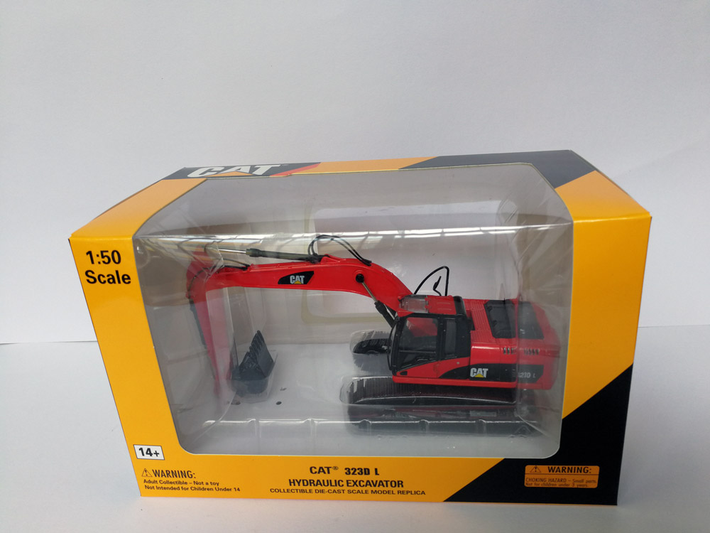 1:50 CAT323D Hydraulic Excavator With Red Toys, (Scale Model Truck, Construction vehicles Scale Model, Alloy Toy Car, Diecast Scale Model Car, Collectible Model Car, Miniature Collection Die cast Toy Vehicles Gifts).