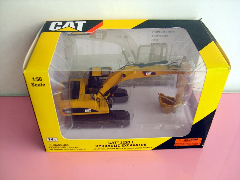 1:50 CAT323D Hydraulic Excavator toy, (Scale Model Truck, Construction vehicles Scale Model, Alloy Toy Car, Diecast Scale Model Car, Collectible Model Car, Miniature Collection Die cast Toy Vehicles Gifts).