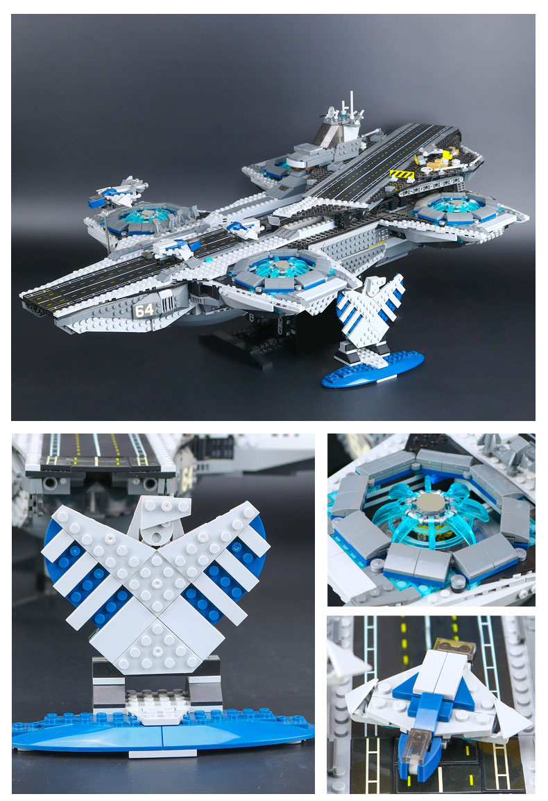 Custom Avengers The SHIELD Helicarrier Compatible Building Bricks Toy Set 3057 Pieces, (MOC Custom Brick Sets, Compatible Building Blocks Toys Ideas, Building Bricks Meaning)