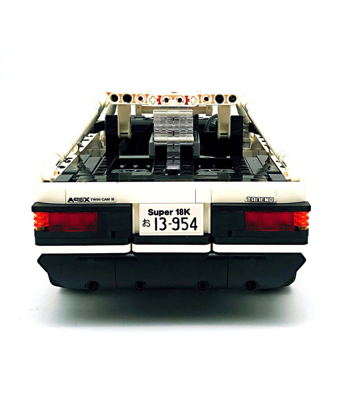 Custom Initial D Toyota AE86 Car With Power Function Building Blocks Toy Set 965 Pieces  (MOC Custom Brick Sets, Compatible Building Blocks Toys Ideas, Building Bricks Meaning)