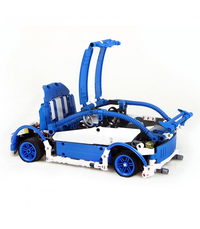 Custom MOC Blue Hatchback Type R Building Bricks Toy Set 640 Pieces, (MOC Custom Brick Sets, Compatible Building Blocks Toys Ideas, Building Bricks Meaning)