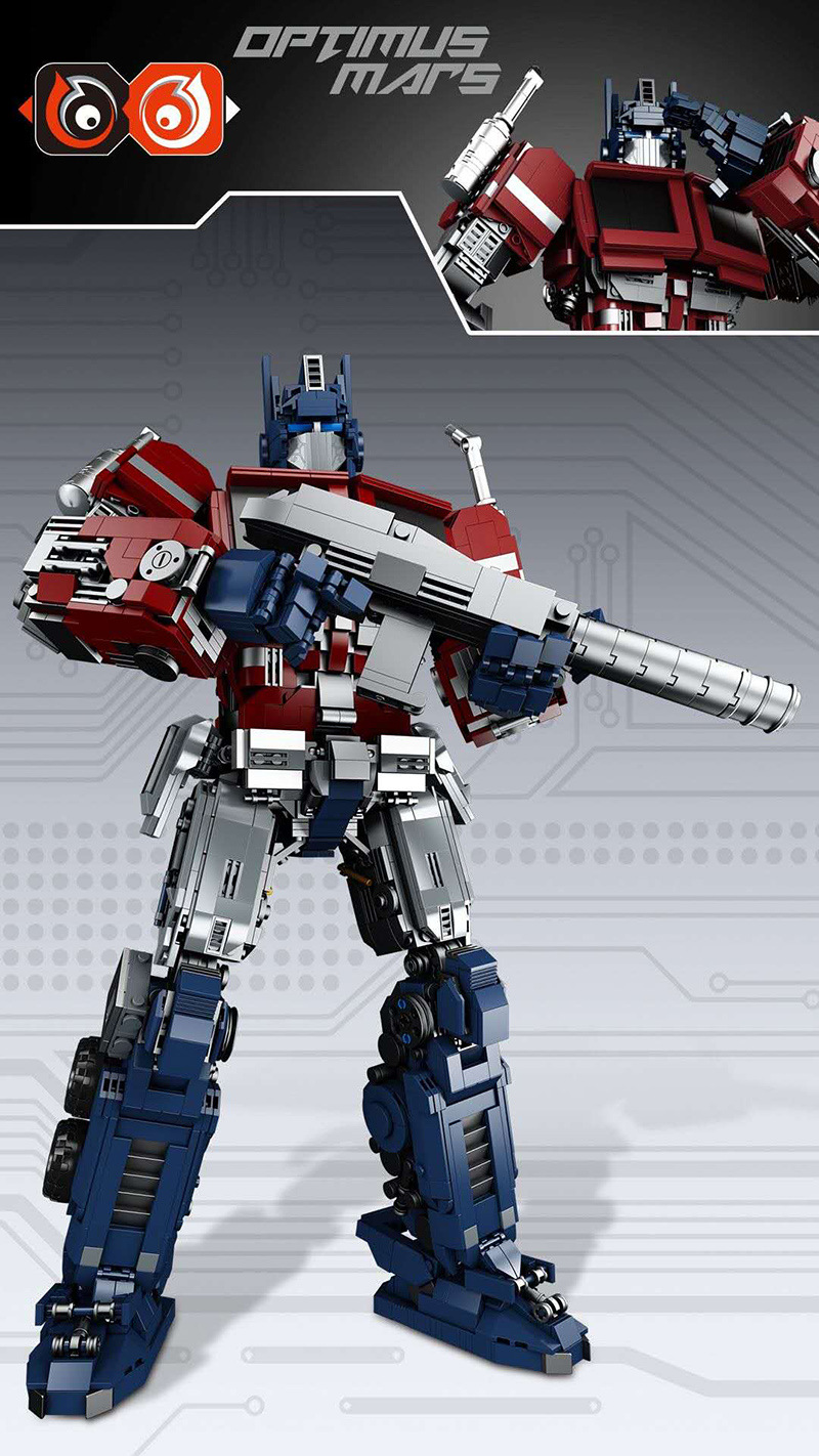 Custom MOC Optimus Prime Transforming Building Bricks Toy Set 2700 Pieces (MOC Custom Brick Sets, Compatible Building Blocks Toys Ideas, Building Bricks Meaning)