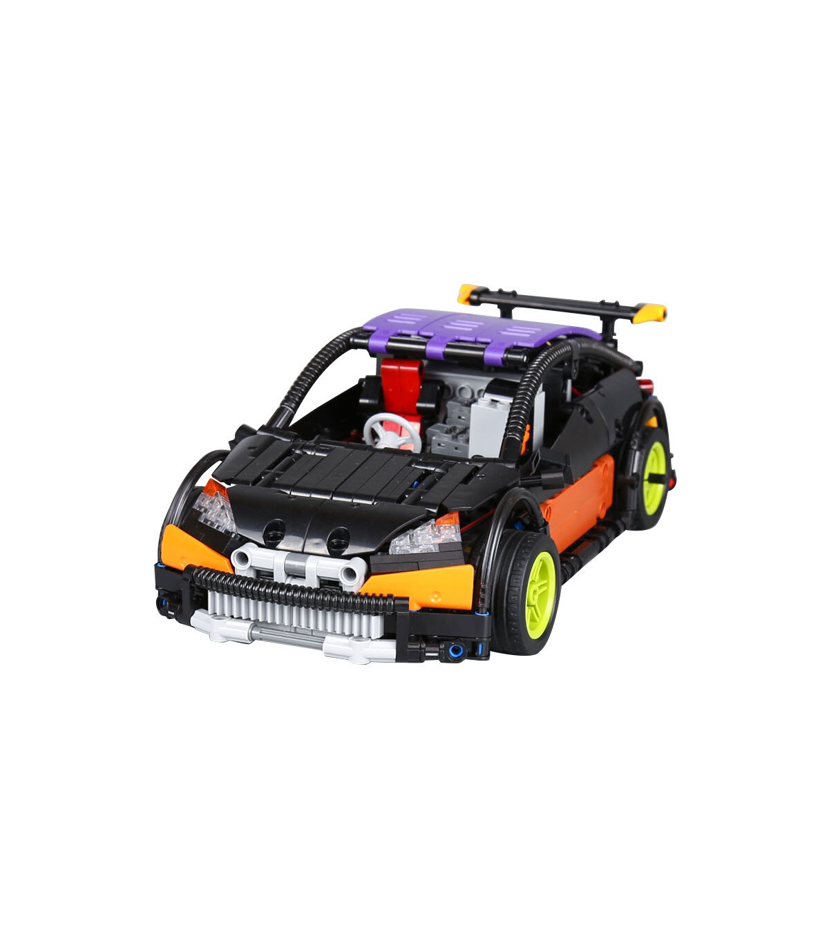 Custom MOC Remote Control Hatchback Type R Building Bricks Toy Set 640 Pieces, (MOC Custom Brick Sets, Compatible Building Blocks Toys Ideas, Building Bricks Meaning)