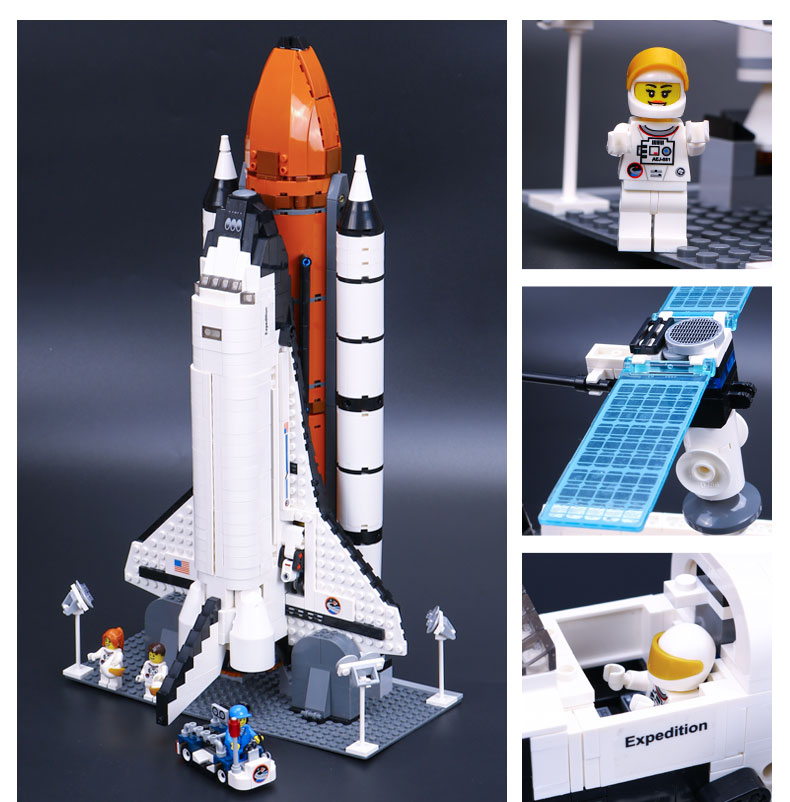 Custom Shuttle Expedition Building Bricks Toy Set 1230 Pieces, (MOC Custom Brick Sets, Compatible Building Blocks Toys Ideas, Building Bricks Meaning)