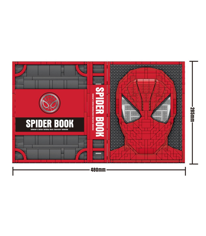Custom Spider-Man Collections Book With Spiderman Minifigures Building Blocks Toy Set 2895 Pieces (MOC Custom Brick Sets, Compatible Building Blocks Toys Ideas, Building Bricks Meaning)