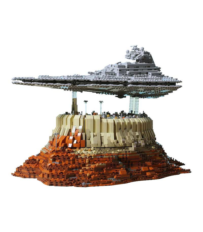 Custom Star Destroyer Empire Over Jedha City Star Wars Building Bricks Toy Set 5098 Pieces  (MOC Custom Brick Sets, Compatible Building Blocks Toys Ideas, Building Bricks Meaning)
