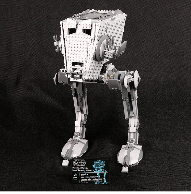 Custom Star Wars Imperial AT-ST Building Bricks Toy Set 1068 Pieces, (MOC Custom Brick Sets, Compatible Building Blocks Toys Ideas, Building Bricks Meaning)