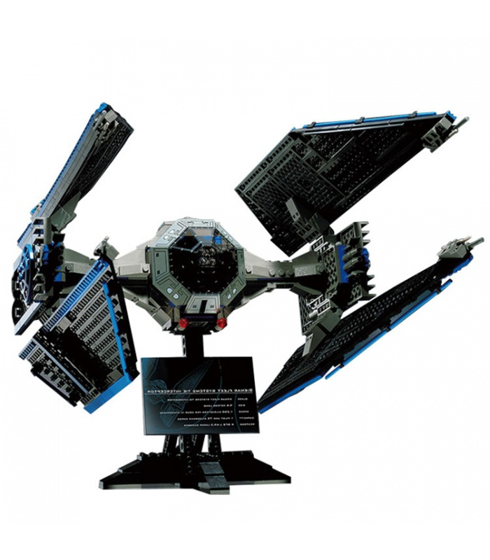 Custom Star Wars TIE Interceptor Building Bricks Toy Set, (MOC Custom Brick Sets, Compatible Building Blocks Toys Ideas, Building Bricks Meaning)