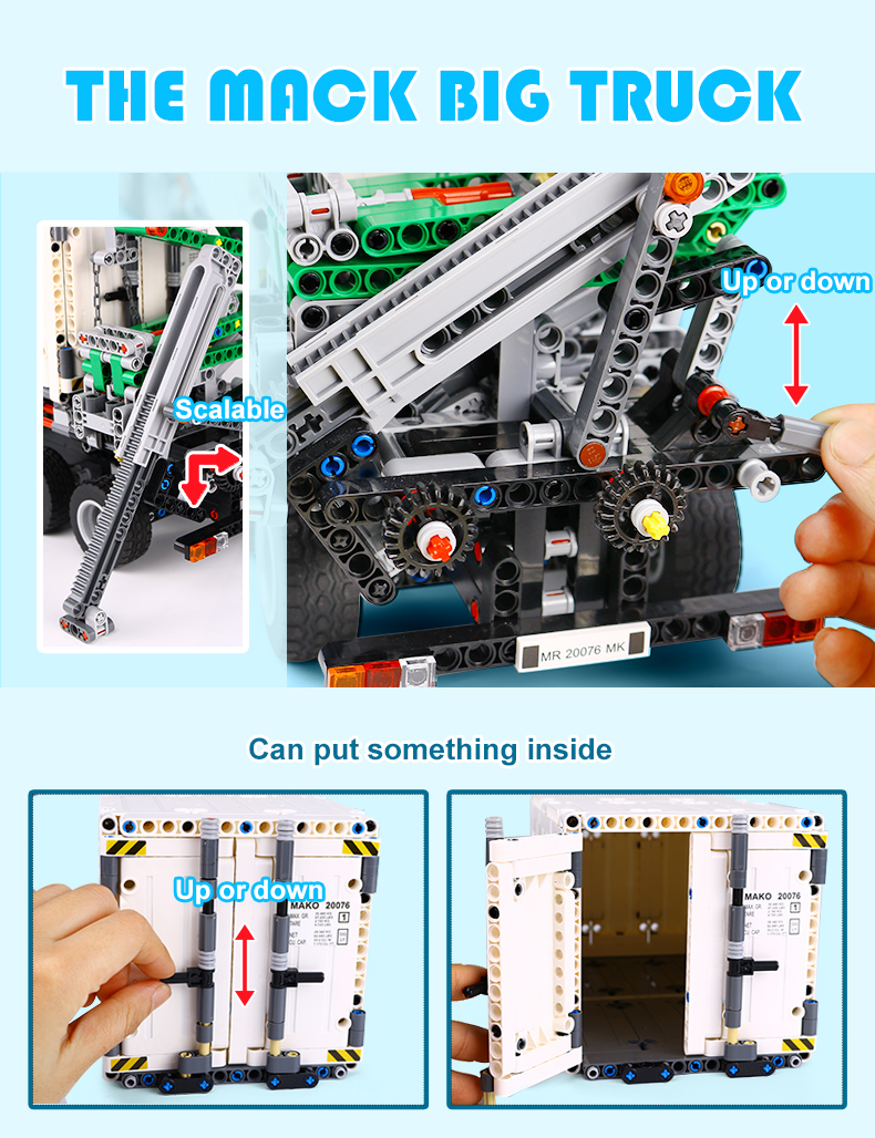 Custom Technology Mack Anthem Compatible Building Bricks Toy Set 2907 Pieces (MOC Custom Brick Sets, Compatible Building Blocks Toys Ideas, Building Bricks Meaning)