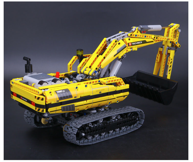 Custom Technology Motorized Excavator Building Bricks Toy Set 1123 Pieces, (MOC Custom Brick Sets, Compatible Building Blocks Toys Ideas, Building Bricks Meaning)