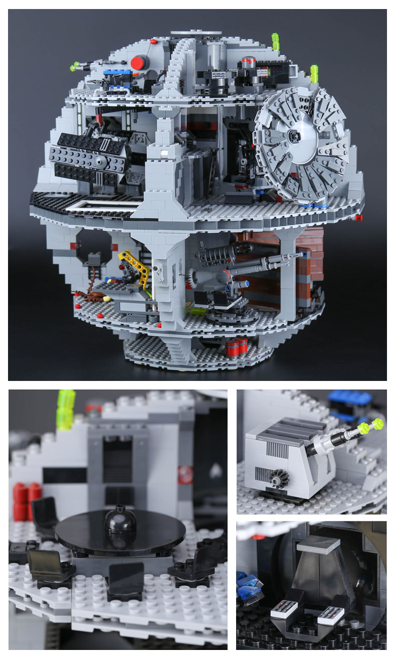 Custom UCS Darth Star Building Bricks Toy Set 3803 Pieces, (MOC Custom Brick Sets, Compatible Building Blocks Toys Ideas, Building Bricks Meaning)