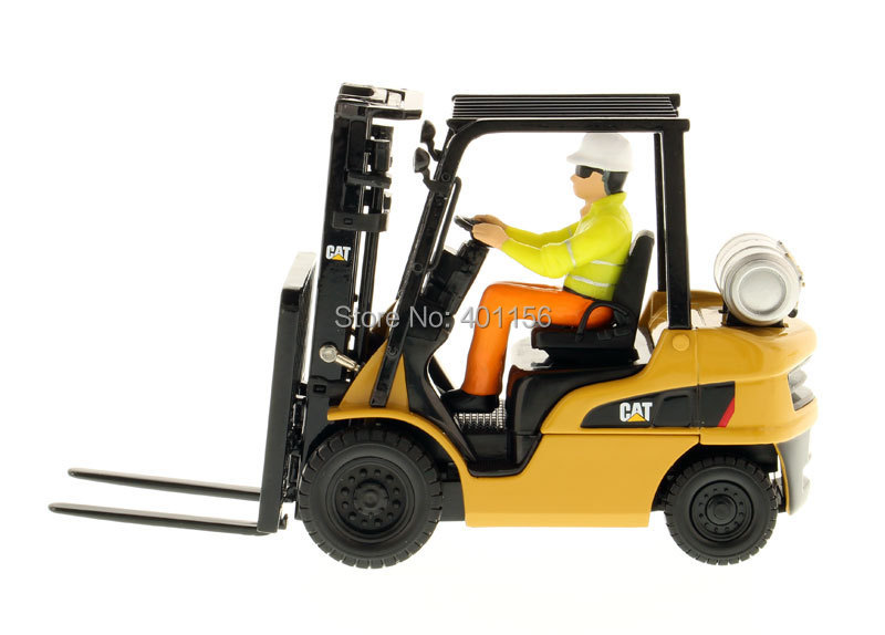 1:25 DM-85223 CAT P5000 Forklift Truck toy, (Scale Model Truck, Construction vehicles Scale Model, Alloy Toy Car, Diecast Scale Model Car, Collectible Model Car, Miniature Collection Die cast Toy Vehicles Gifts).