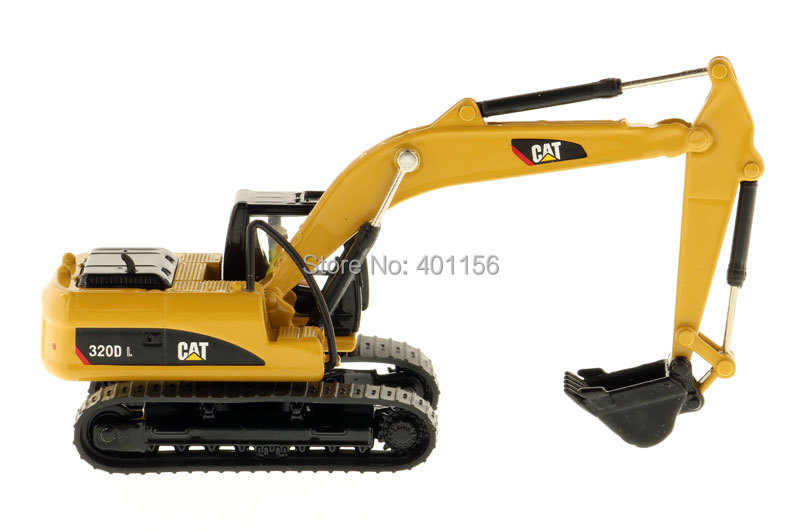 1:87 DM-85262 Cat 320D Hydraulic Excavator, (Scale Model Truck, Construction vehicles Scale Model, Alloy Toy Car, Diecast Scale Model Car, Collectible Model Car, Miniature Collection Die cast Toy Vehicles Gifts).