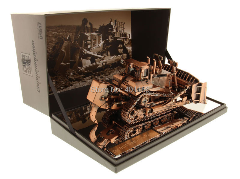 1:50 DM-85517 Cat D11T Antique Bronze Track-Type Tractor toy, (Scale Model Truck, Construction vehicles Scale Model, Alloy Toy Car, Diecast Scale Model Car, Collectible Model Car, Miniature Collection Die-cast Toy Vehicles Gifts).