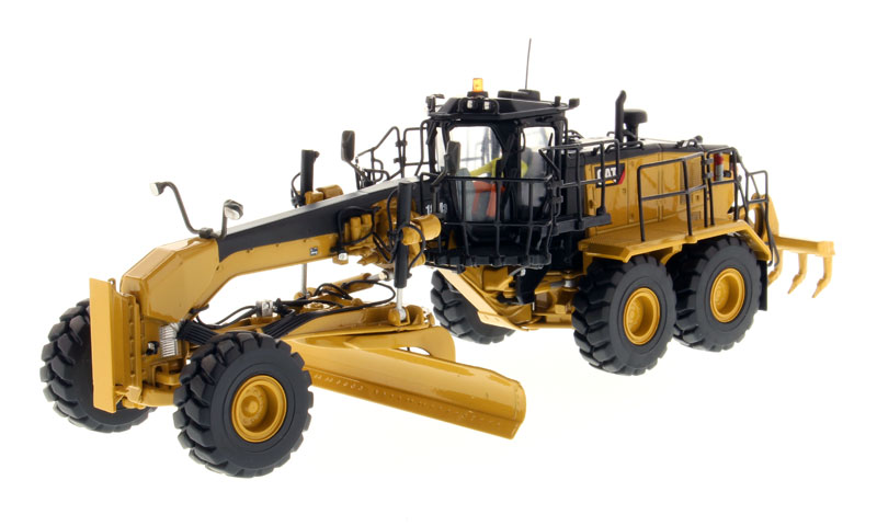 1:50 DM-85521 CAT18M3 Motor Grader - High Line Series toy, (Scale Model Truck, Construction vehicles Scale Model, Alloy Toy Car, Diecast Scale Model Car, Collectible Model Car, Miniature Collection Die cast Toy Vehicles Gifts).