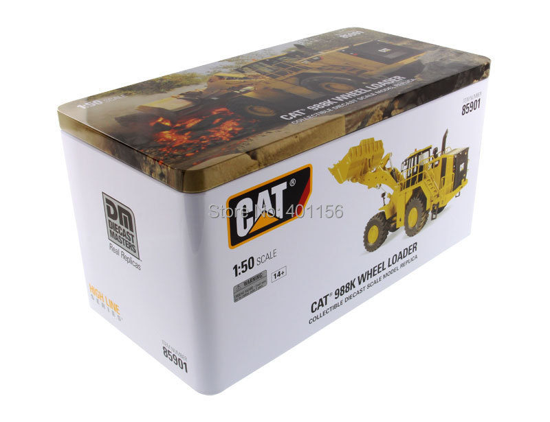 1:50 DM-85901 CAT988K Wheel Loader toy, (Scale Model Truck, Construction vehicles Scale Model, Alloy Toy Car, Diecast Scale Model Car, Collectible Model Car, Miniature Collection Die-cast Toy Vehicles Gifts).
